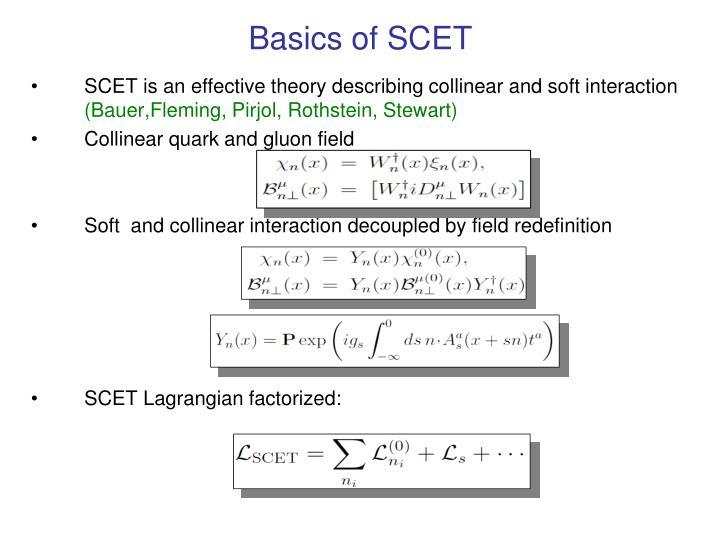 Basics of SCET