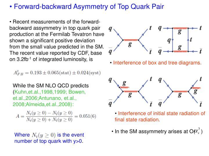Forward-backward Asymmetry of Top Quark Pair