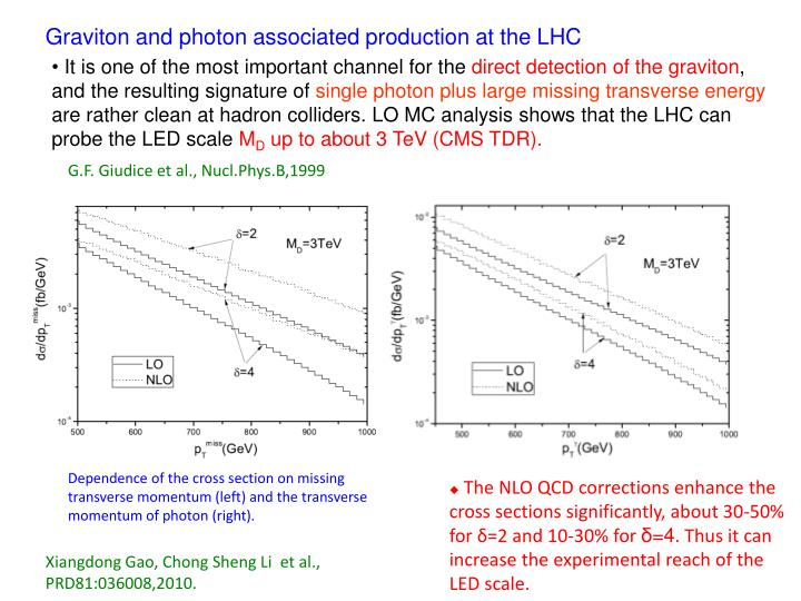 Graviton and photon associated production at the LHC