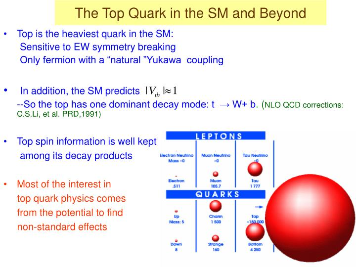 The Top Quark in the SM and Beyond