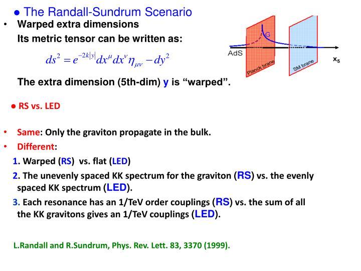 The Randall-Sundrum Scenario