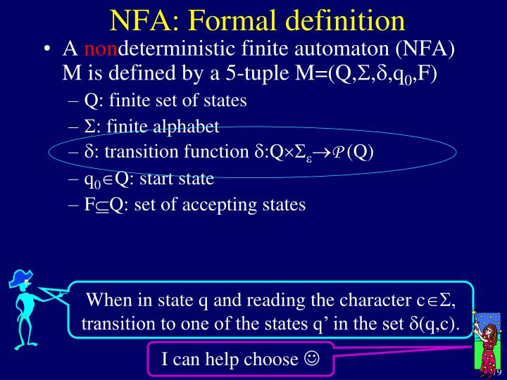 NFA: Formal definition