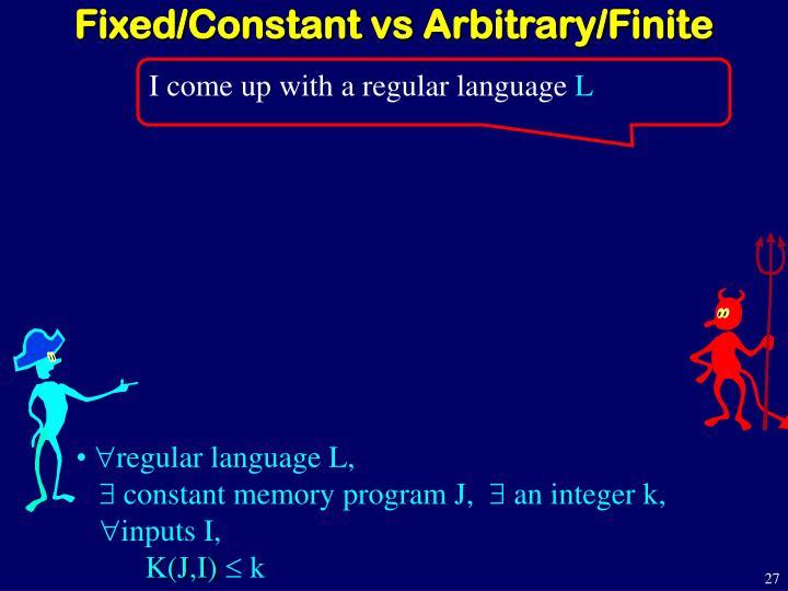 Fixed/Constant