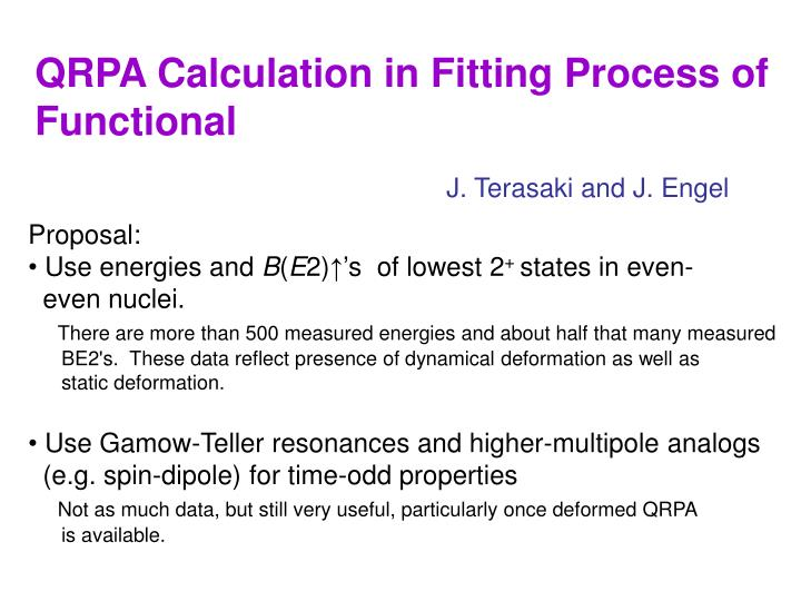 QRPA Calculation in Fitting Process of