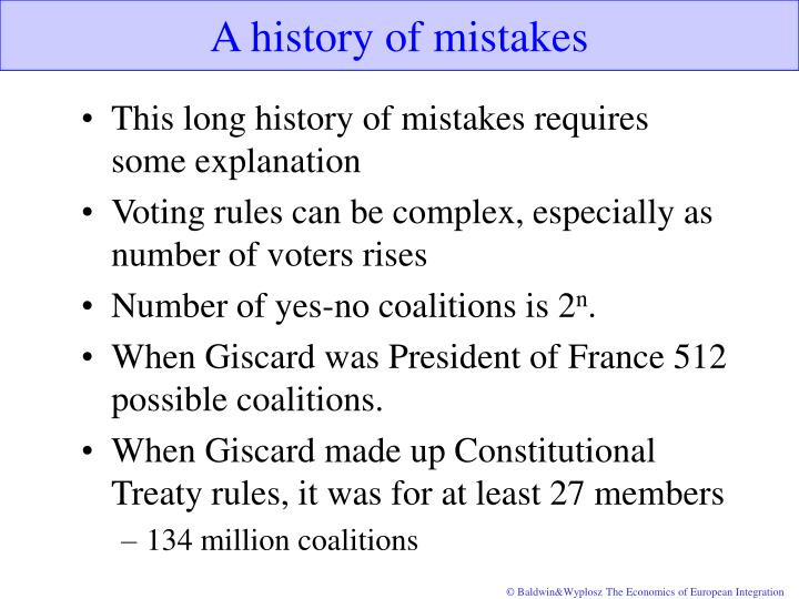 A history of mistakes