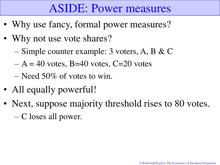 ASIDE: Power measures