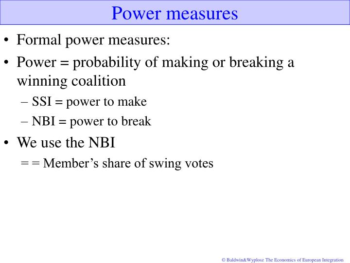 Power measures