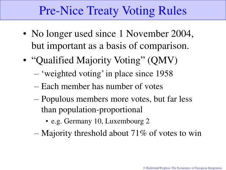 Pre-Nice Treaty Voting Rules