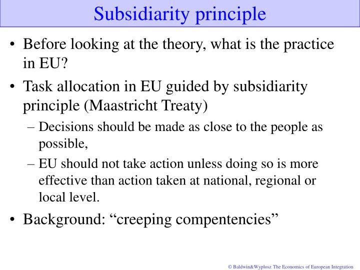Subsidiarity principle