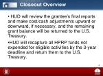 closeout overview2
