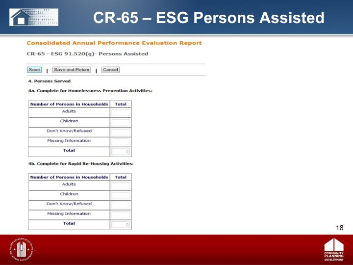 CR-65 – ESG Persons Assisted