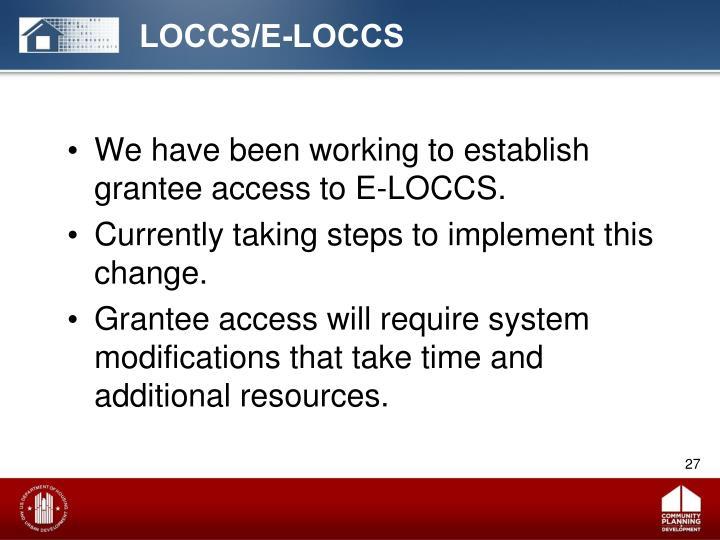 LOCCS/E-LOCCS