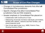 scope of con plan changes
