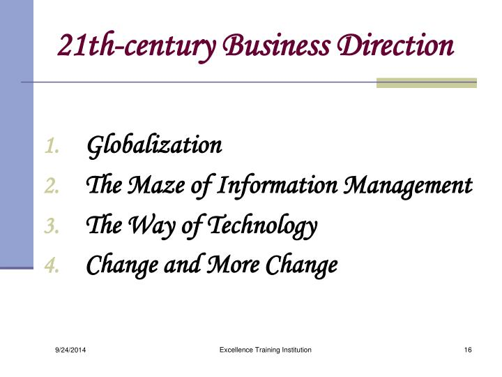 21th-century Business Direction