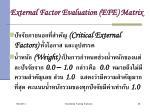external factor evaluation efe matrix