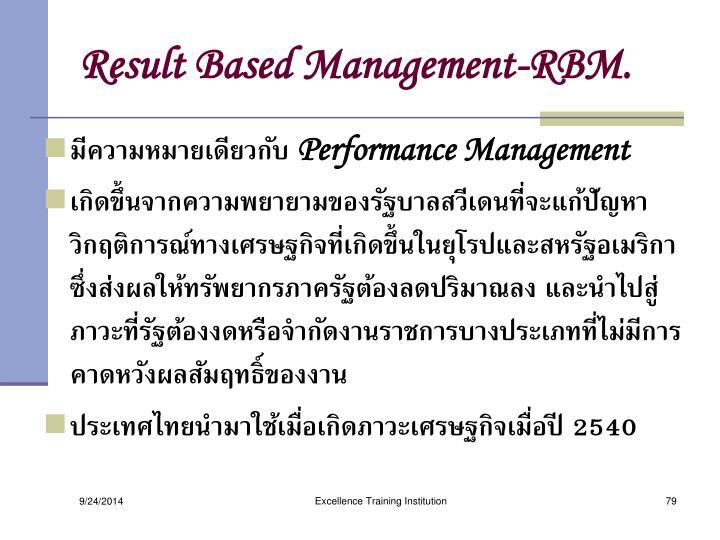 Result Based Management-RBM.