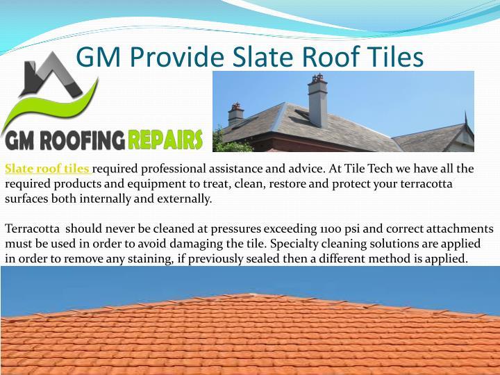 GM Provide Slate Roof Tiles