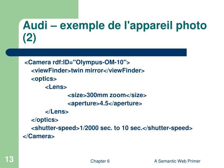 Audi – exemple de l'appareil photo (2)