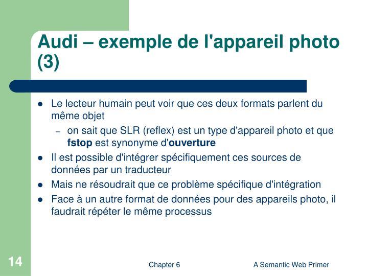 Audi – exemple de l'appareil photo (3)
