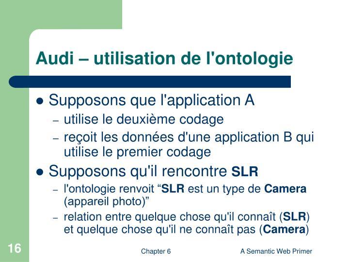 Audi – utilisation de l'ontologie