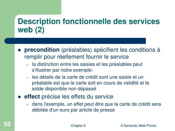 Description fonctionnelle des services web (2)