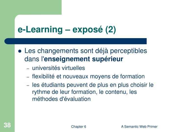 e-Learning – exposé (2)
