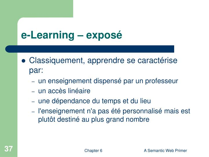e-Learning – exposé
