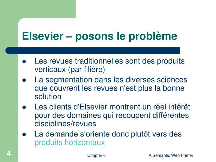 Elsevier – posons le problème