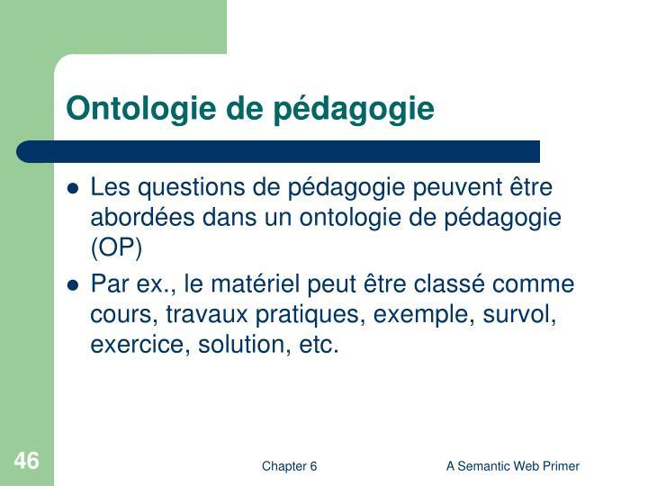 Ontologie de pédagogie