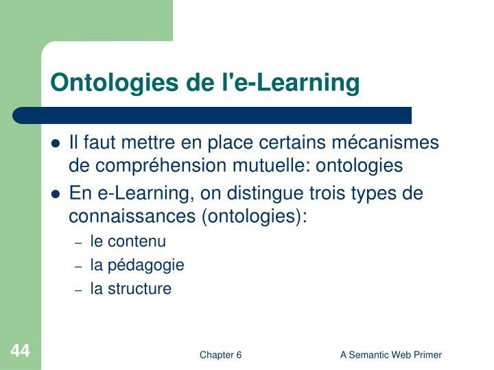 Ontologies de l'e-Learning