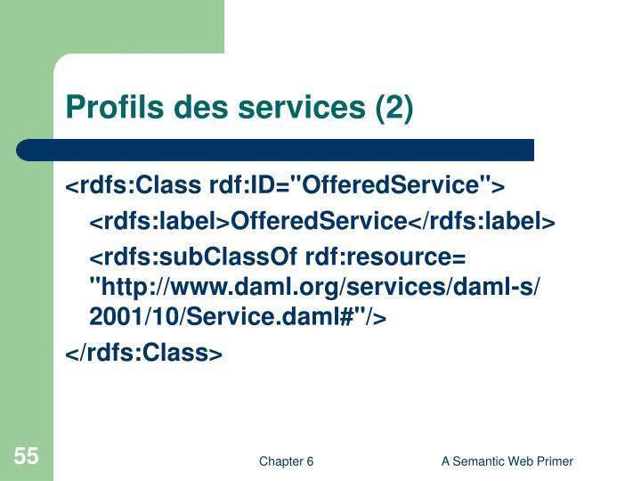 Profils des services (2)