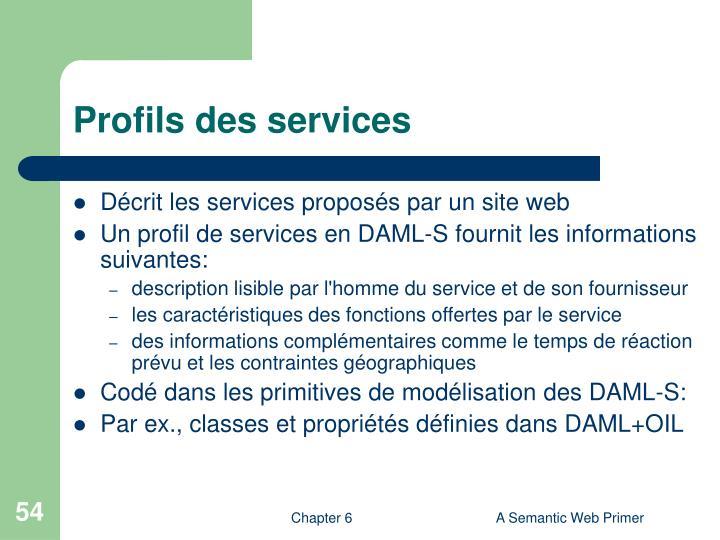 Profils des services