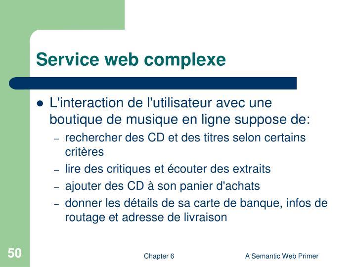 Service web complexe
