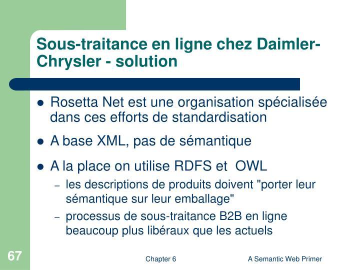 Sous-traitance en ligne chez Daimler-Chrysler - solution