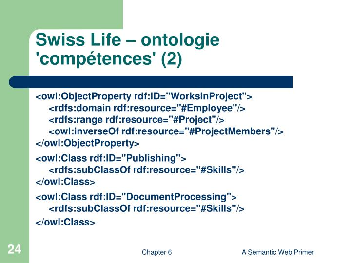 Swiss Life – ontologie 'compétences' (2)