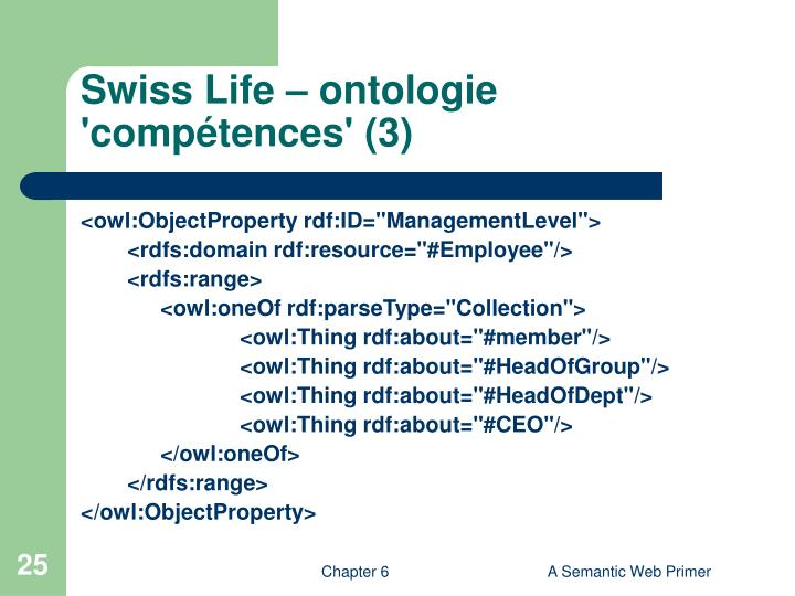 Swiss Life – ontologie 'compétences' (3)