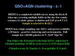 qso agn clustering z 1