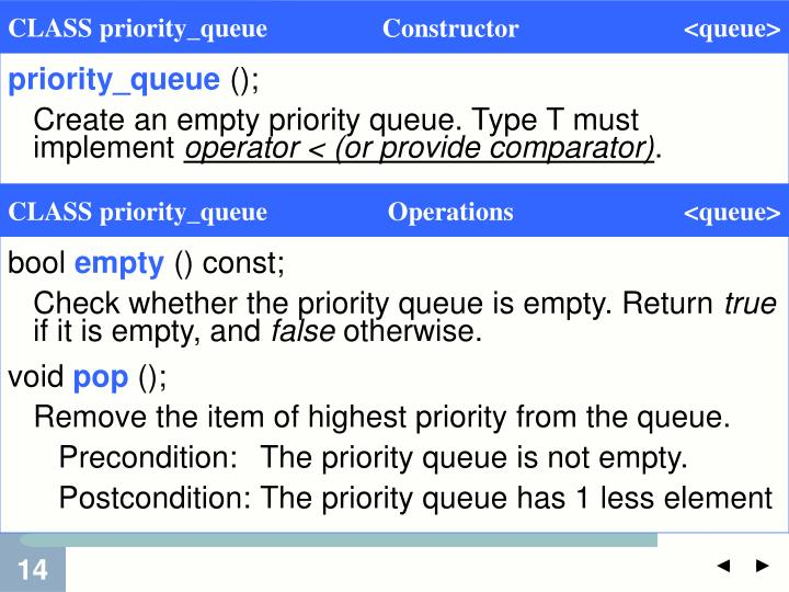 priority_queue