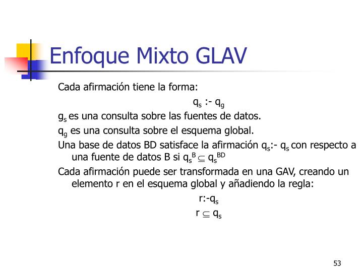 Enfoque Mixto GLAV