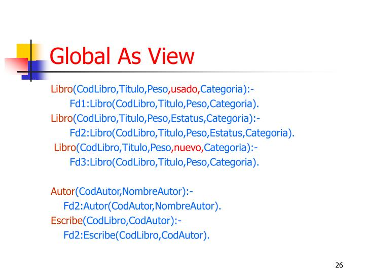 Global As View