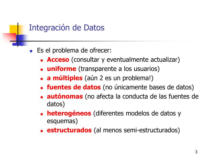 Integración de Datos