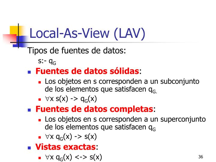 Local-As-View (LAV)
