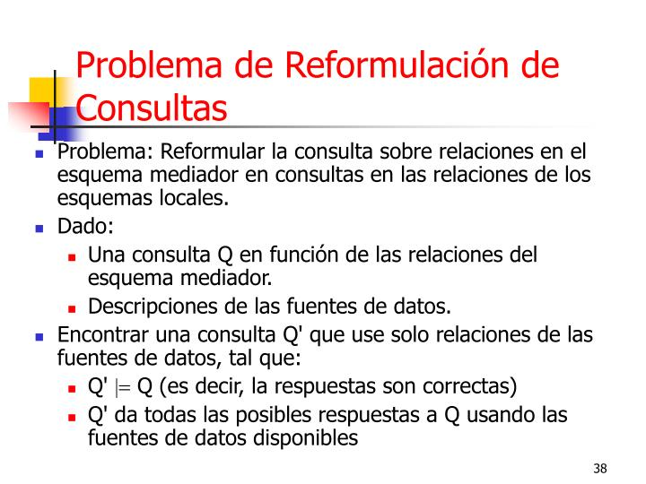 Problema de Reformulación de Consultas