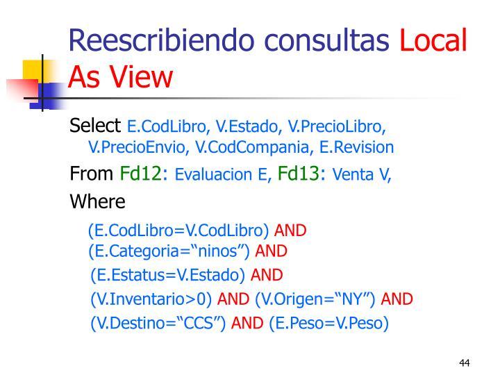 Reescribiendo consultas