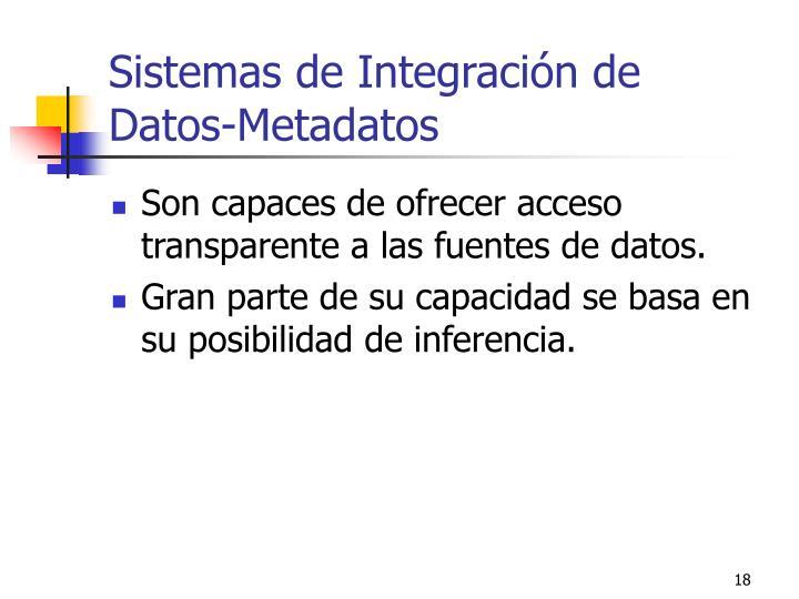 Sistemas de Integración de Datos-Metadatos