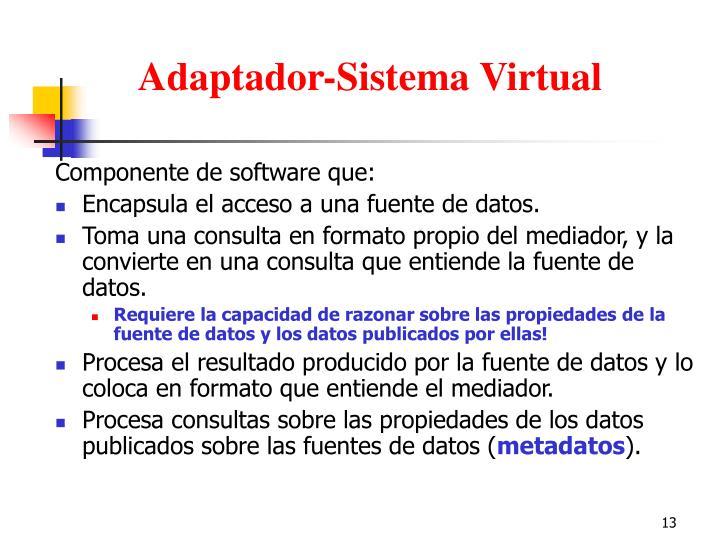 Adaptador-Sistema Virtual