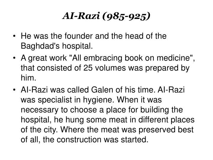 AI-Razi (985-925)