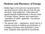 medicine and pharmacy of europe