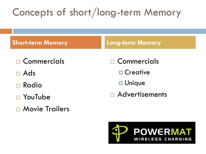 Concepts of short/long-term Memory