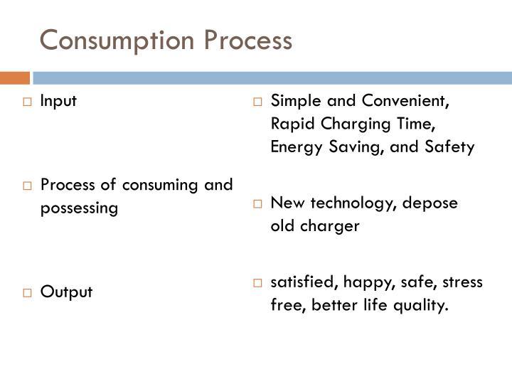 Consumption Process